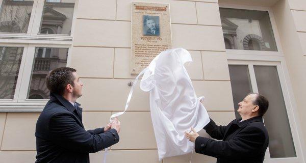 Emléktáblát avattak Pógyor Istvánnak